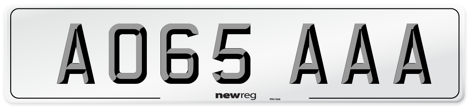 AO65 AAA Number Plate from New Reg