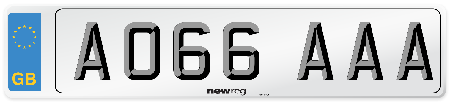 AO66 AAA Number Plate from New Reg