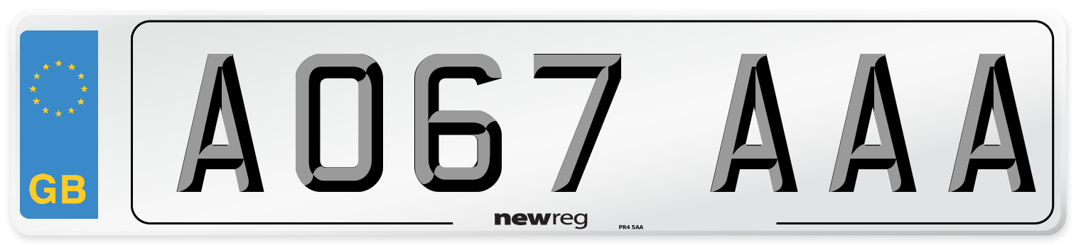AO67 AAA Number Plate from New Reg