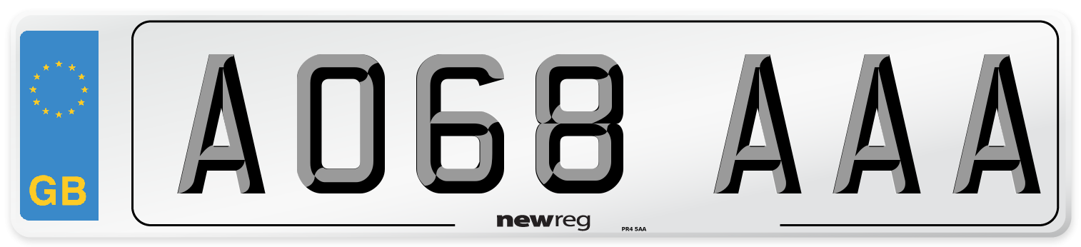 AO68 AAA Number Plate from New Reg
