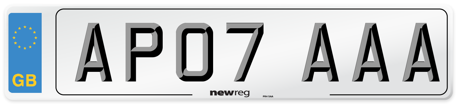 AP07 AAA Number Plate from New Reg