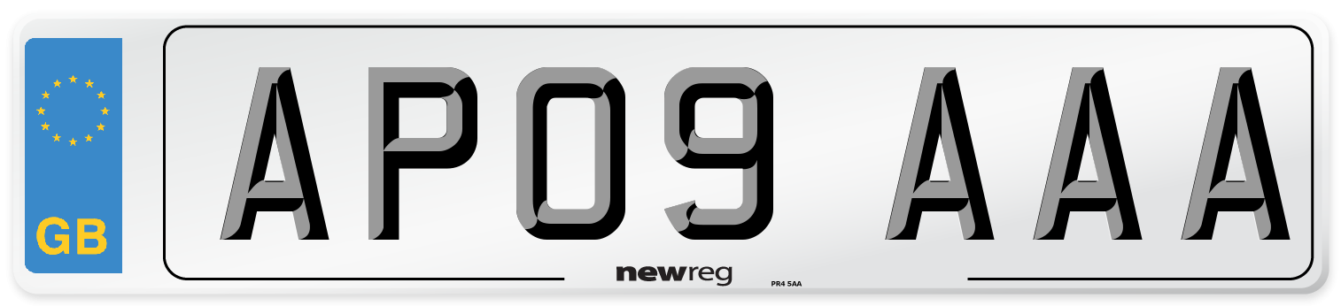 AP09 AAA Number Plate from New Reg