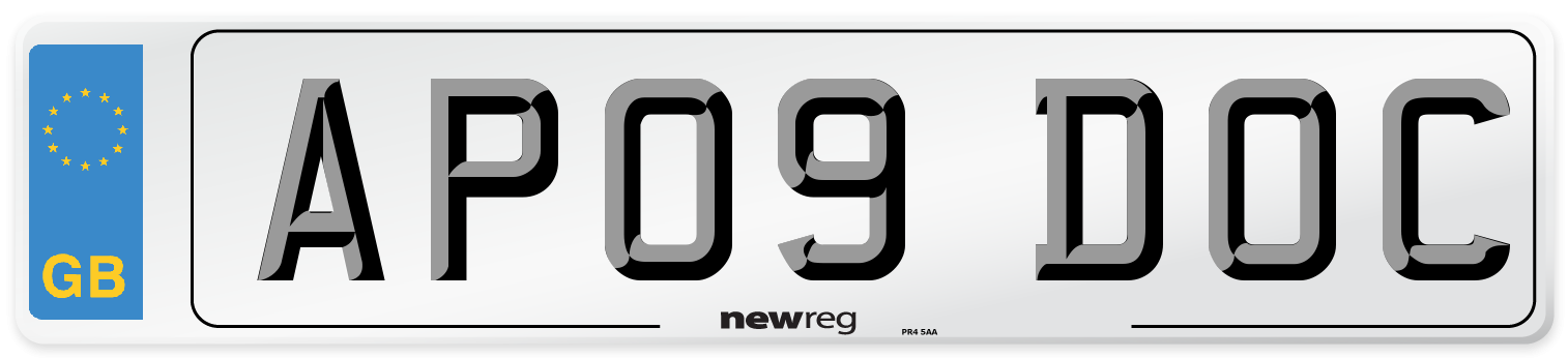 AP09 DOC Number Plate from New Reg