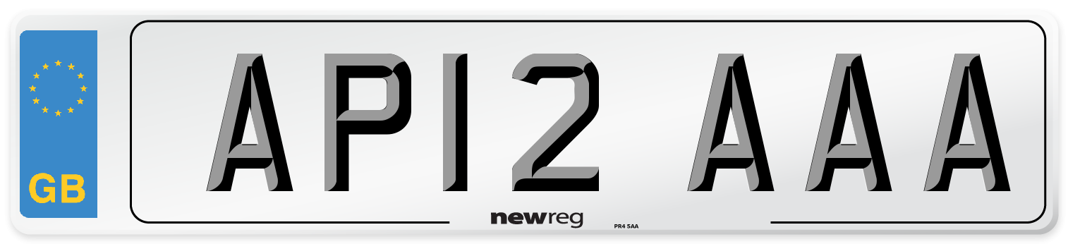 AP12 AAA Number Plate from New Reg