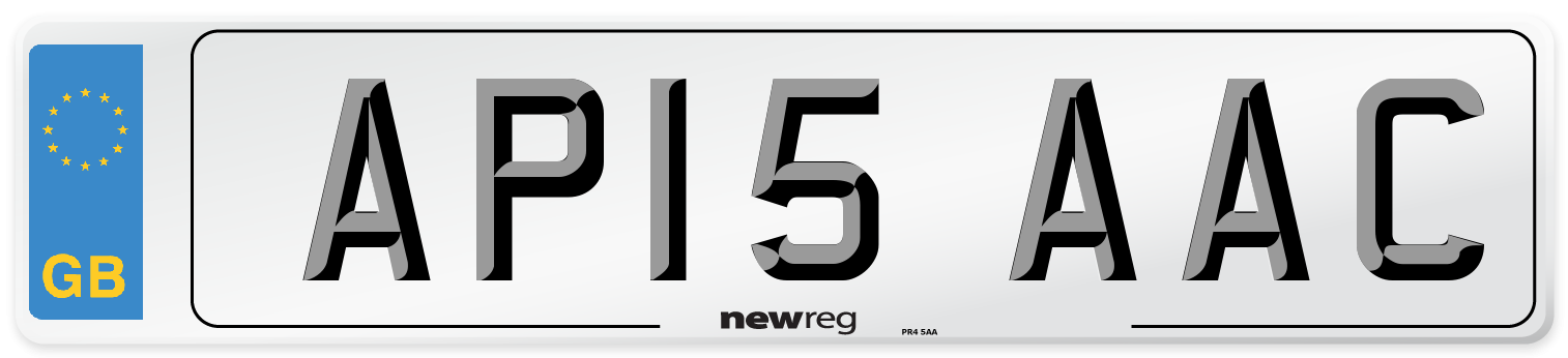 AP15 AAC Number Plate from New Reg