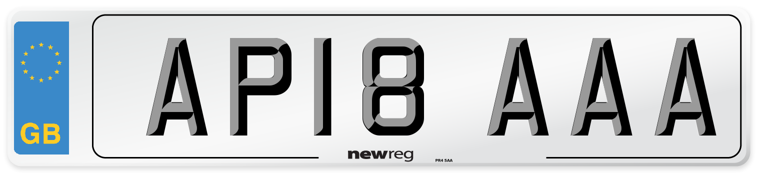 AP18 AAA Number Plate from New Reg