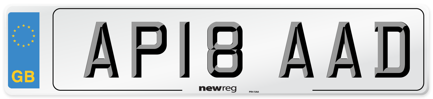 AP18 AAD Number Plate from New Reg