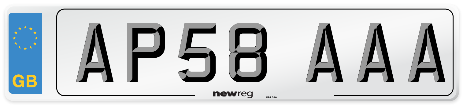 AP58 AAA Number Plate from New Reg