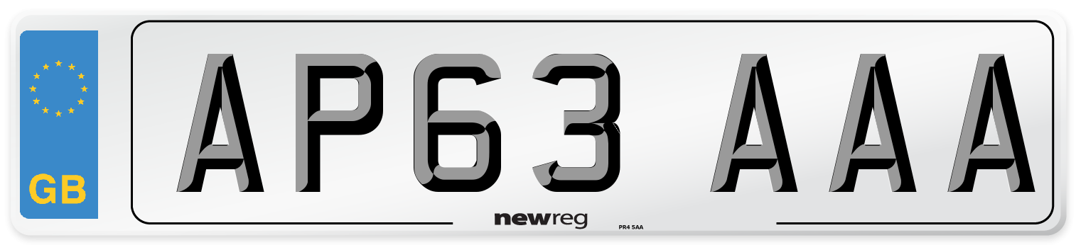 AP63 AAA Number Plate from New Reg