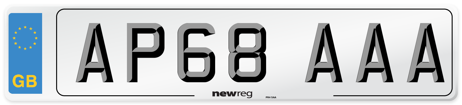 AP68 AAA Number Plate from New Reg