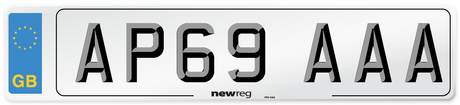 AP69 AAA Number Plate from New Reg