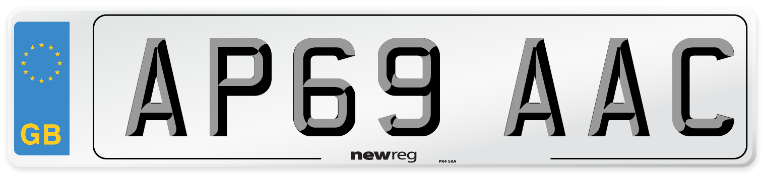 AP69 AAC Number Plate from New Reg
