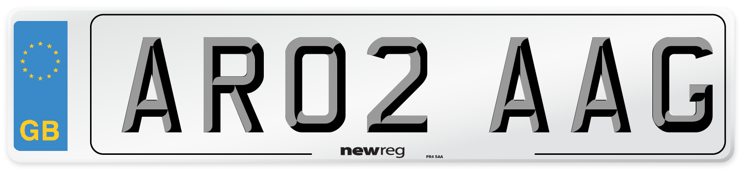 AR02 AAG Number Plate from New Reg