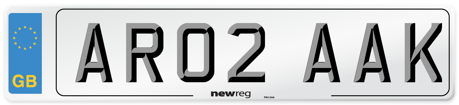 AR02 AAK Number Plate from New Reg
