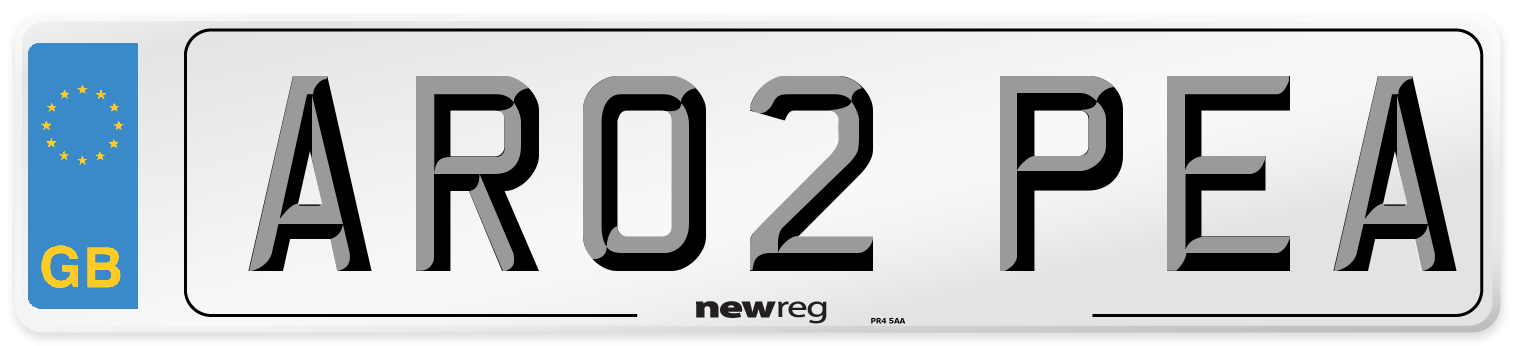 AR02 PEA Number Plate from New Reg