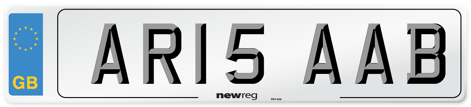 AR15 AAB Number Plate from New Reg