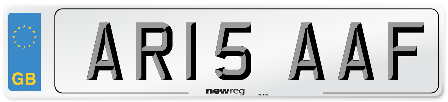 AR15 AAF Number Plate from New Reg