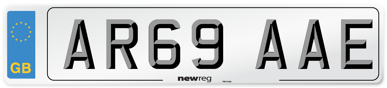 AR69 AAE Number Plate from New Reg