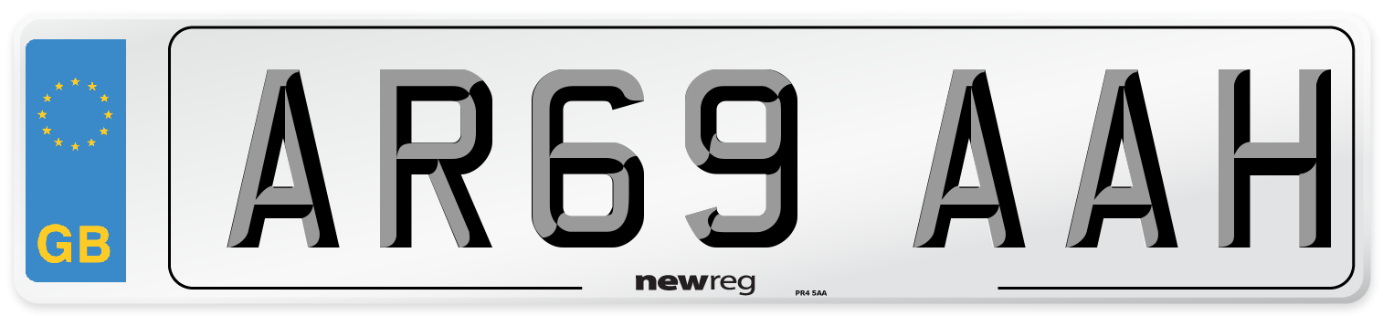AR69 AAH Number Plate from New Reg