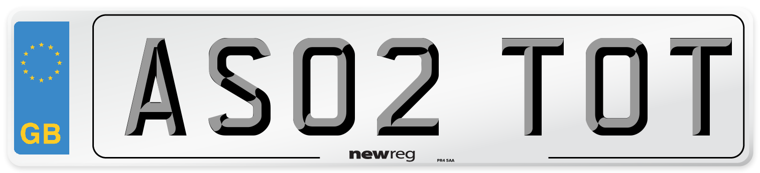 AS02 TOT Number Plate from New Reg