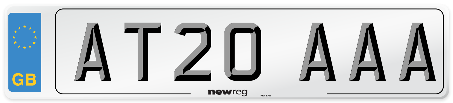 AT20 AAA Number Plate from New Reg