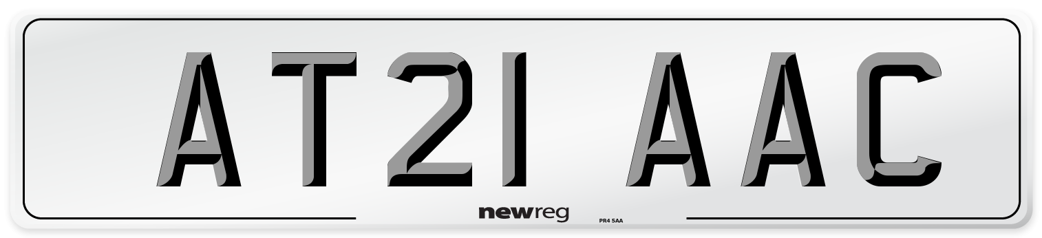 AT21 AAC Number Plate from New Reg