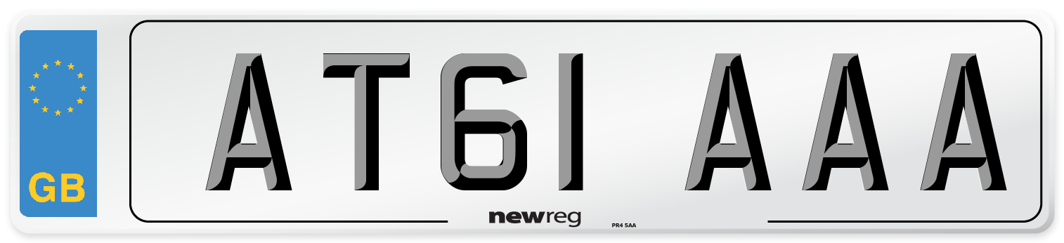 AT61 AAA Number Plate from New Reg