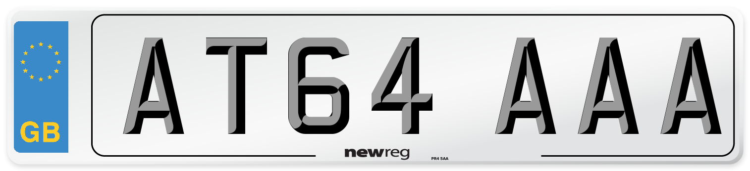 AT64 AAA Number Plate from New Reg