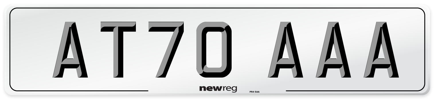 AT70 AAA Number Plate from New Reg