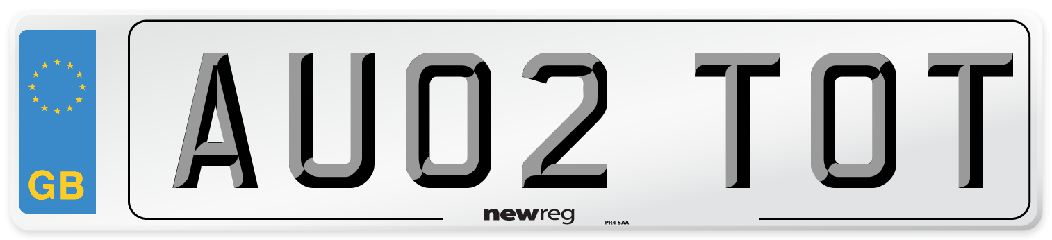 AU02 TOT Number Plate from New Reg