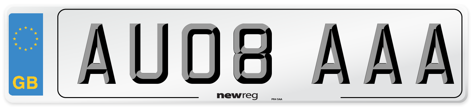 AU08 AAA Number Plate from New Reg