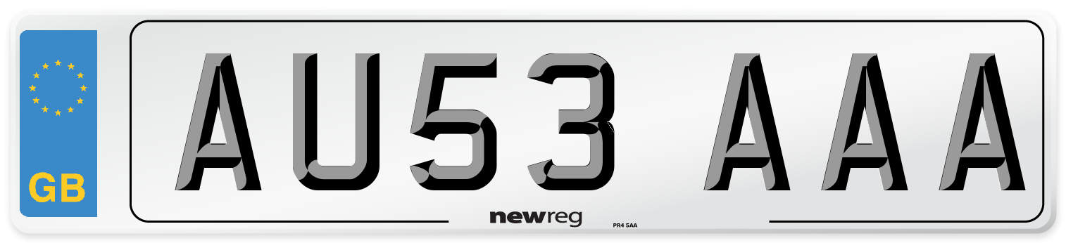 AU53 AAA Number Plate from New Reg