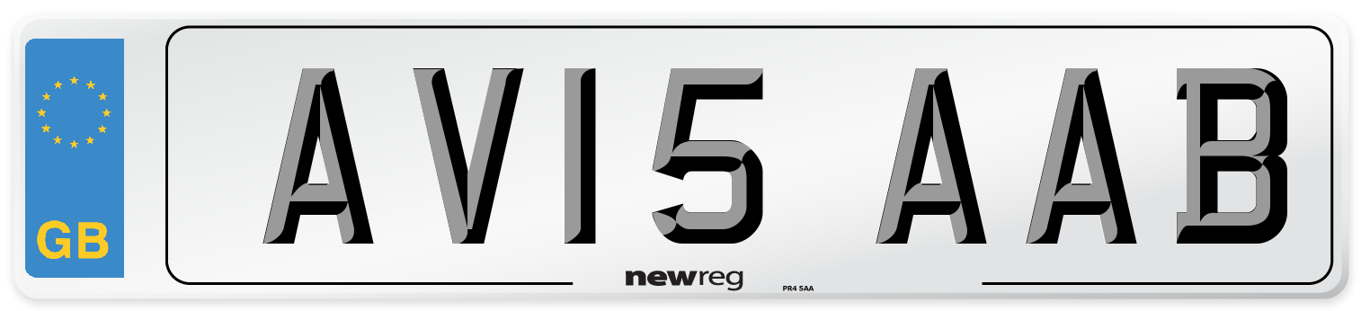 AV15 AAB Number Plate from New Reg