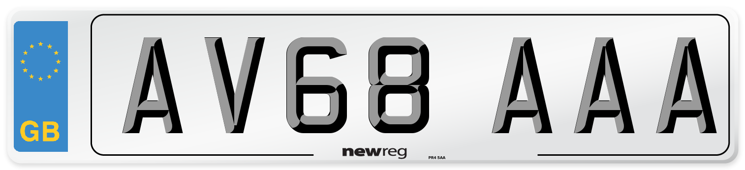 AV68 AAA Number Plate from New Reg