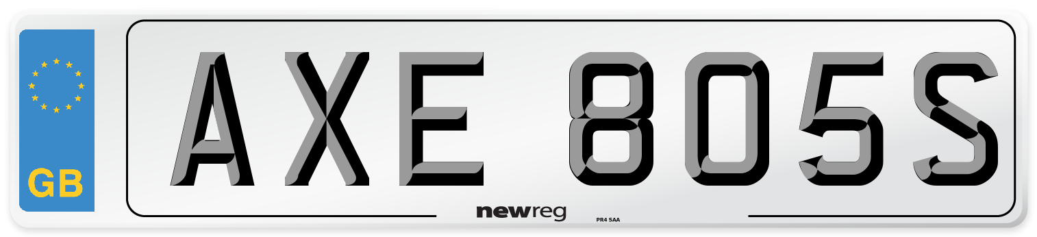 AXE 805S Number Plate from New Reg
