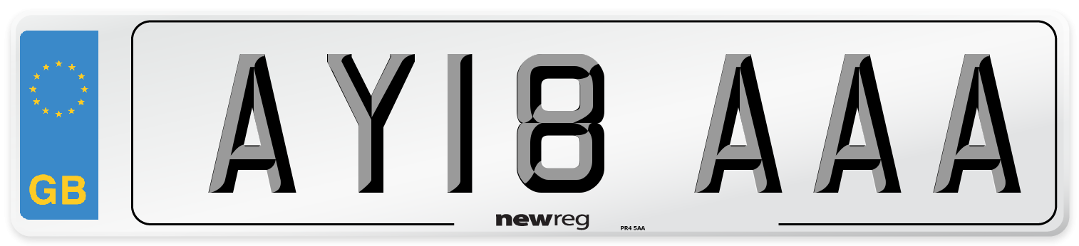 AY18 AAA Number Plate from New Reg