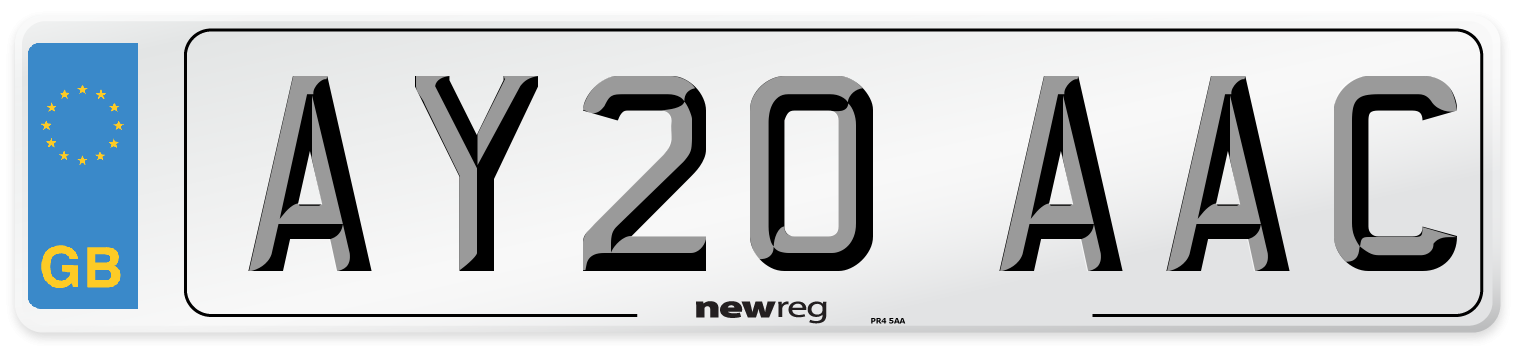 AY20 AAC Number Plate from New Reg