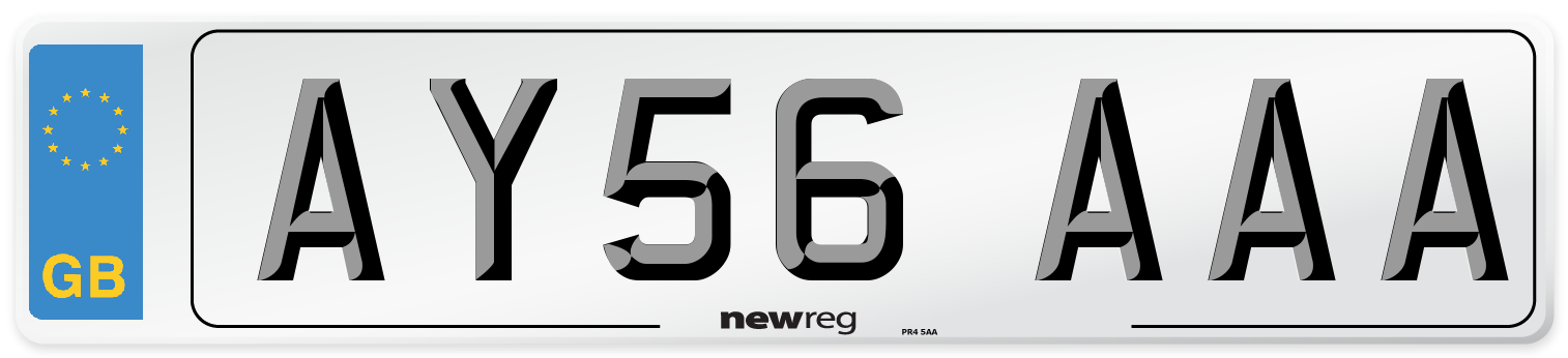 AY56 AAA Number Plate from New Reg