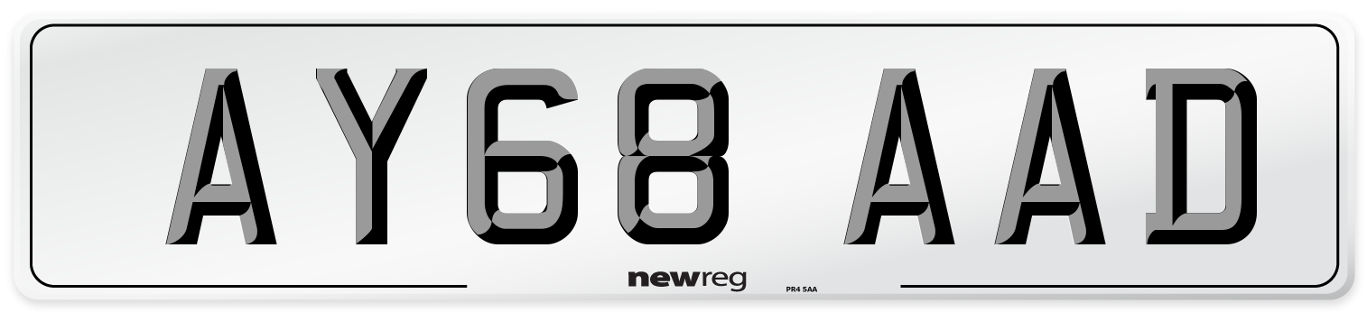 AY68 AAD Number Plate from New Reg