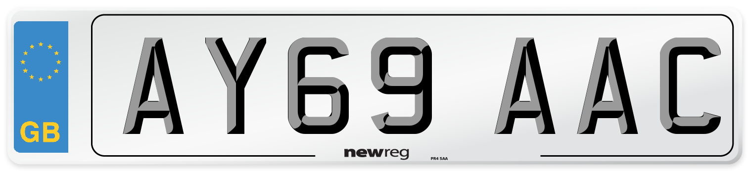 AY69 AAC Number Plate from New Reg