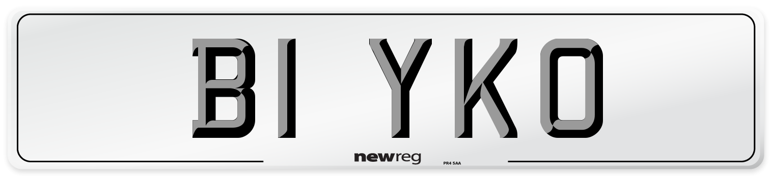 B1 YKO Number Plate from New Reg