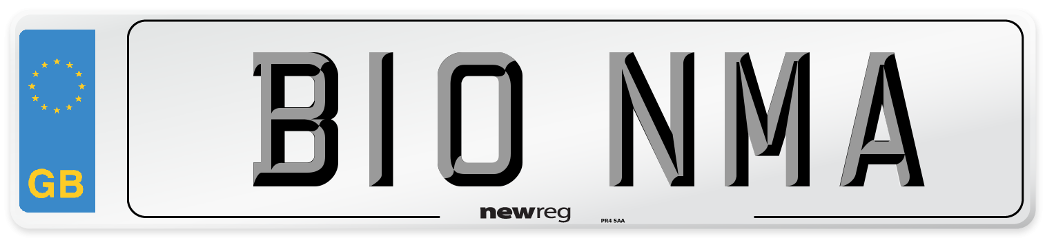 B10 NMA Number Plate from New Reg