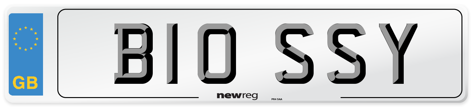 B10 SSY Number Plate from New Reg