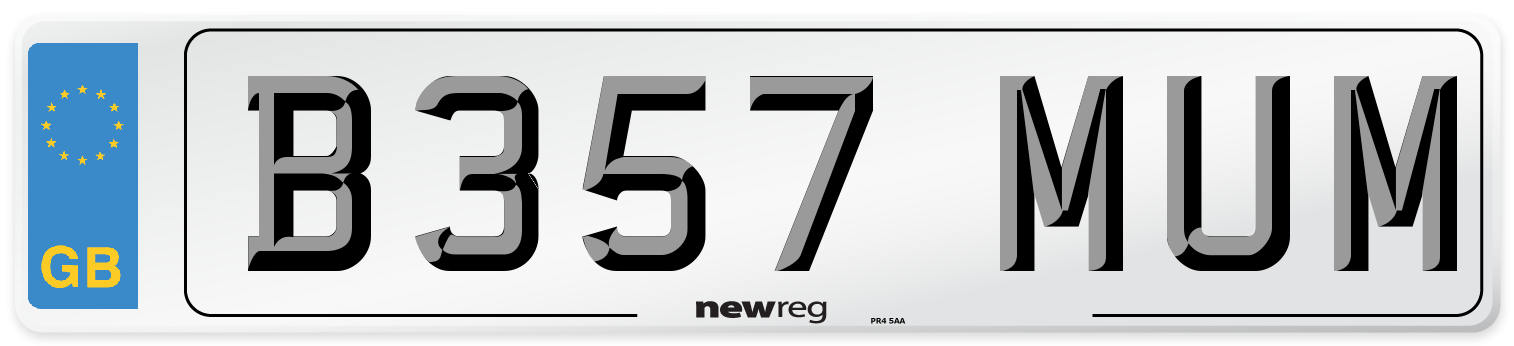 B357 MUM Number Plate from New Reg