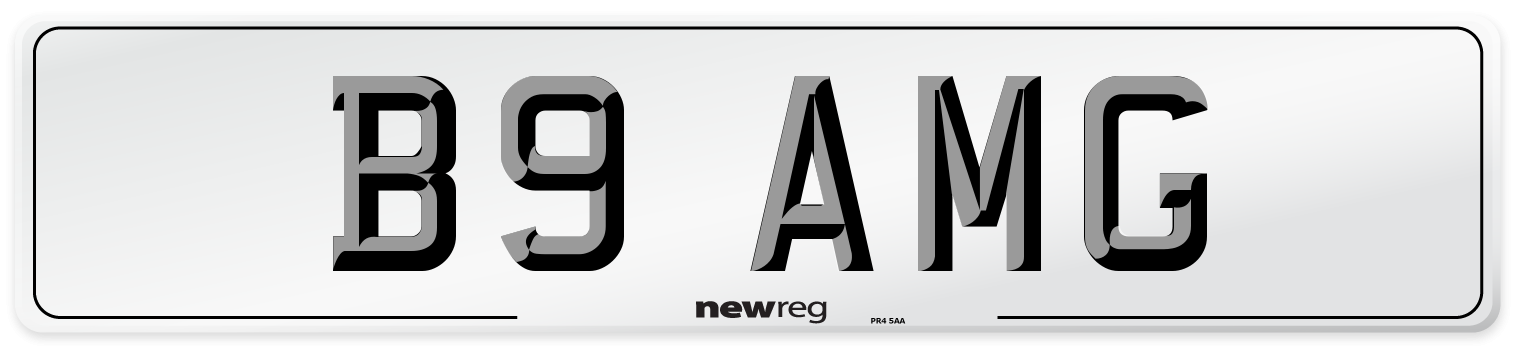 B9 AMG Number Plate from New Reg