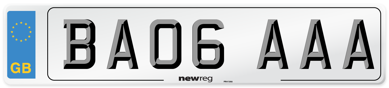 BA06 AAA Number Plate from New Reg