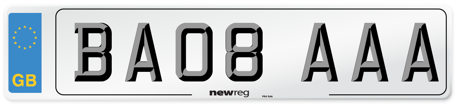 BA08 AAA Number Plate from New Reg