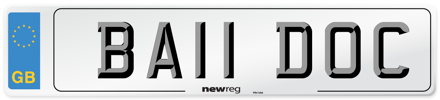 BA11 DOC Number Plate from New Reg