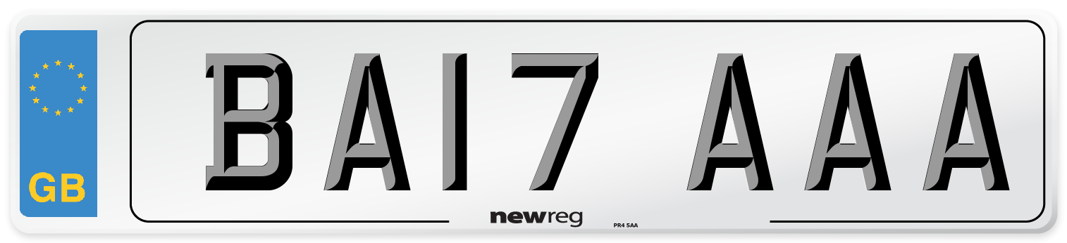 BA17 AAA Number Plate from New Reg