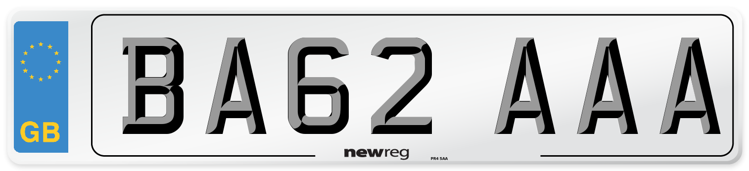 BA62 AAA Number Plate from New Reg